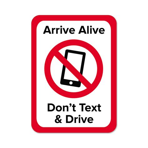 Arrive Alive Don't Text & Drive Stickers   Mines Press