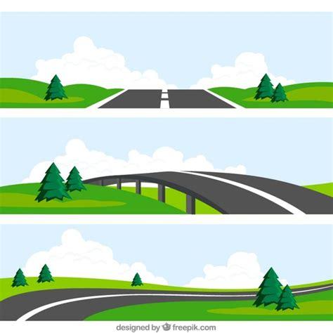 graphic design hill road road landscapes vector free download