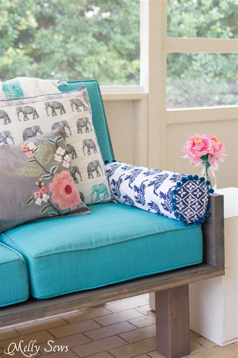 how to sew a bolster pillow melly sews
