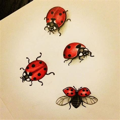 flying ladybug tattoo designs best 25 ladybug tattoos ideas on