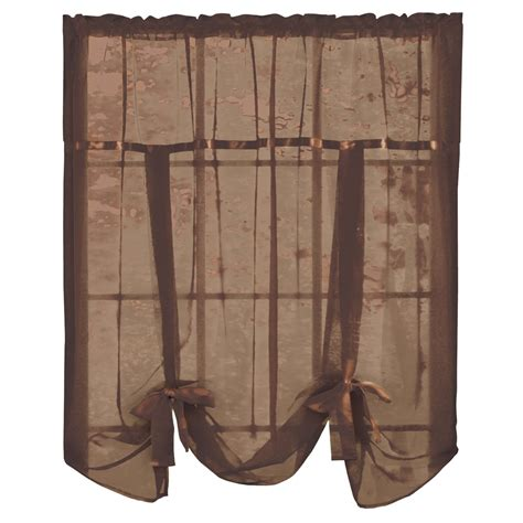 tie up shade curtain sheer tie up shade curtain by collections etc ebay