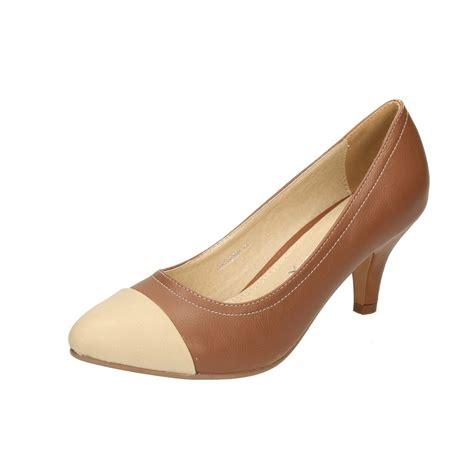 mid high heel shoes emilio luca x brown beige toe mid high heel court wedding