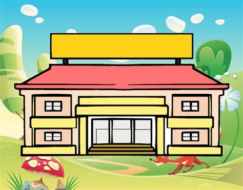 imagenes escolares de primaria dibujo de escuela primaria pintado por en dibujos net el