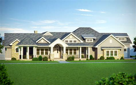 5 Bedroom Craftsman House Plans by Five Bedroom Craftsman Home Plan 95007rw Architectural