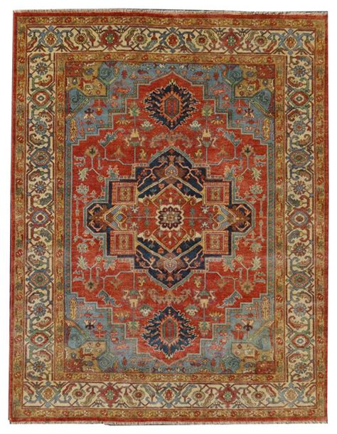 Antique Looking Area Rugs Mandana Antique Style Weave Serapi Rug And Ivory 8 X10 Traditional Area Rugs By