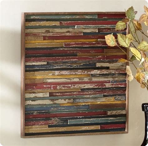 Ballard Design Headboard wood plank wall art goes modern