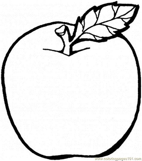 free printable coloring page of an apple coloring pages apple 2 food fruits gt apples free