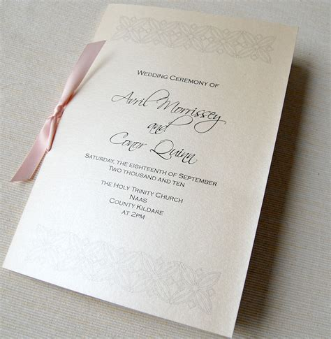layout of wedding mass booklet unique wedding invitations ceremony booklet