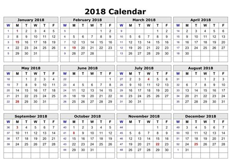 happy new year 2018 calendar download