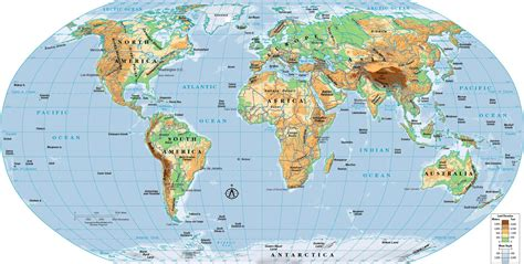 the world map physical world map my