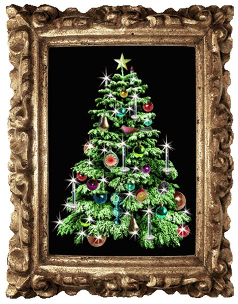 christmas tree in picture frame animated gif