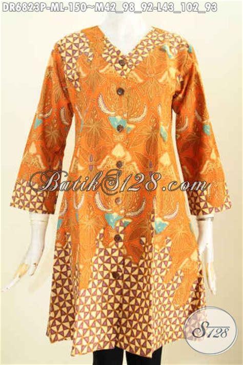 Baju Wanita Dress V baju batik wanita trend 2017 busana dress batik kerah v