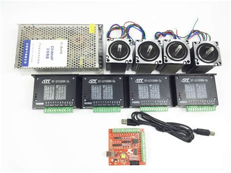 Usb Kit cnc mach3 usb 4 axis kit 4pcs tb6600 driver mach3 usb