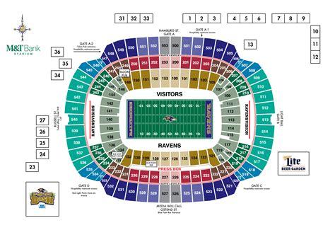 Stadium Seating by M T Bank Stadium Diagrams Baltimore Ravens