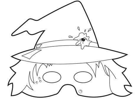 6 best images of printable witch face witch face pumpkin