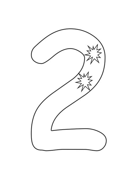 Number 2 Coloring Pages For Preschoolers by Number 2 Printable Coloring Pages For Toddlers For