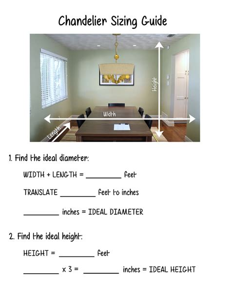 Chandelier size for dining room peenmedia com