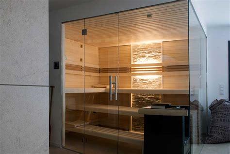 sauna zu hause 204 glasfront sauna luxuri 246 s design transparent apart