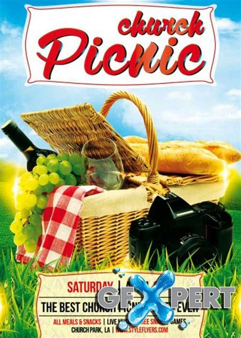 Free Church Picnic Psd Flyer Template Download Summer Picnic Flyer Template