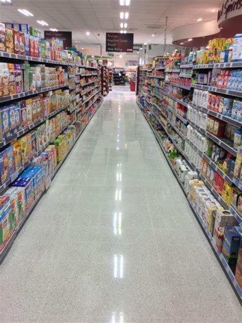 Terrazzo floors restoration specialist in supermarkets