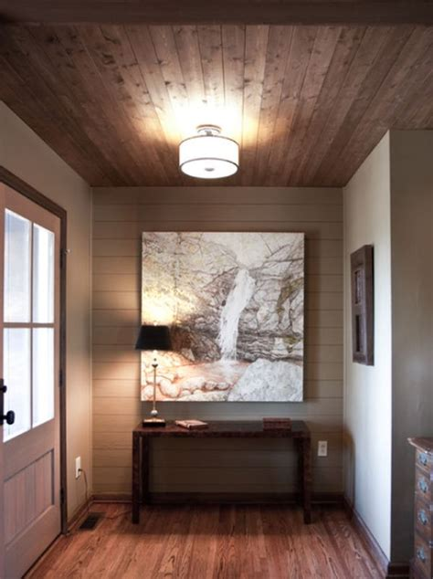 Floors And Ceilings by Stylish Decors Featuring Warm Rustic Beautiful Wood Ceilings