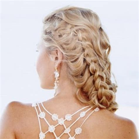 hairstyles for curly hair plait blonde curly hair style side braid cool curly hair