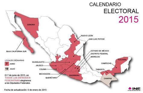 Calendario Electoral 2015 Calendario Electoral Instituto Nacional Electoral