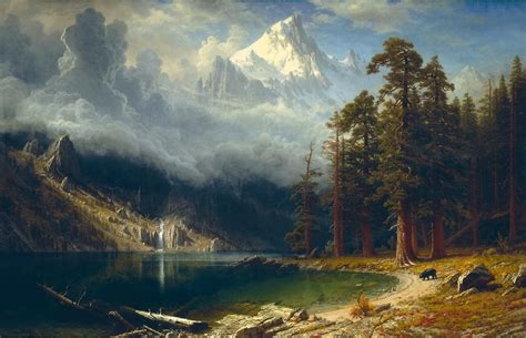 Landscape Paintings Usa File Albert Bierstadt Mount Corcoran Jpg Wikimedia Commons