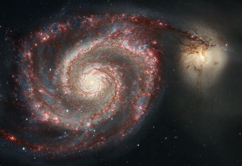 whirlpool galaxy spiral galaxy m51 gorgeous pictures combines hubble and