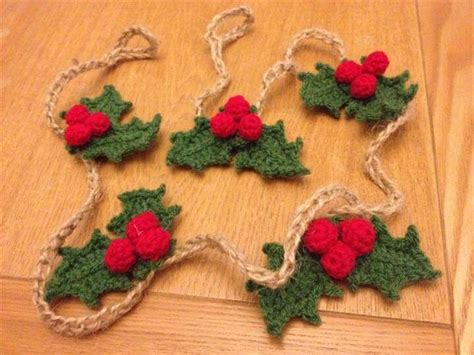knitting pattern for christmas tree bunting 52 handmade crochet garland free pattern diy to make