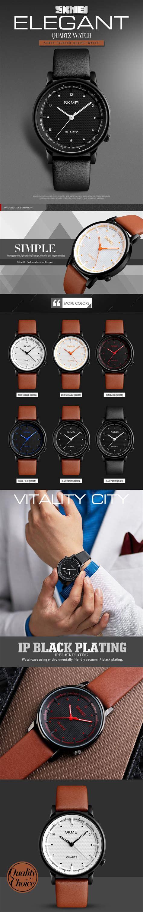 Skmei Fashion Casual Leather 1083 Murah skmei 1210 fashion simple style leather casual unisex quartz analog wrist at