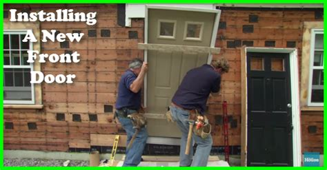 Installing A New Exterior Door How To Install An Fitting A New Front Door