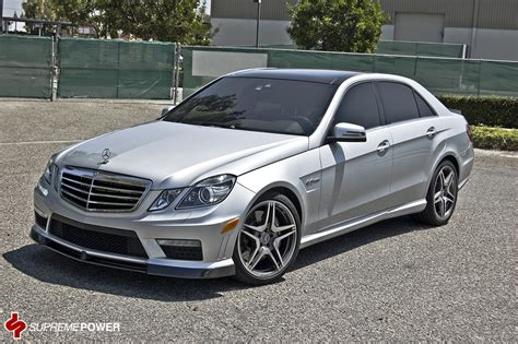 lowered amg w212 w212 e63 amg lowered on hre s with vorsteiner aero