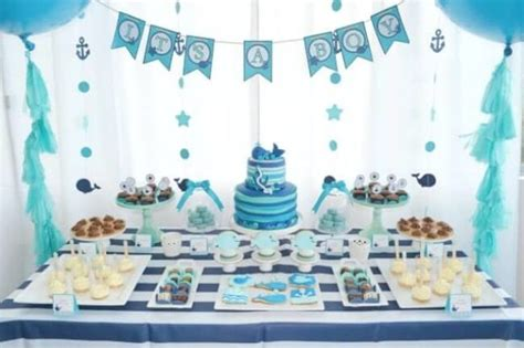 Baby Shower Table by A Boy S Whale Themed Baby Shower Spaceships And Laser Beams