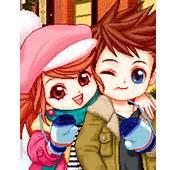 Cartoon Couple Cupcakes Cute Couples In Love Anime Pumpkin