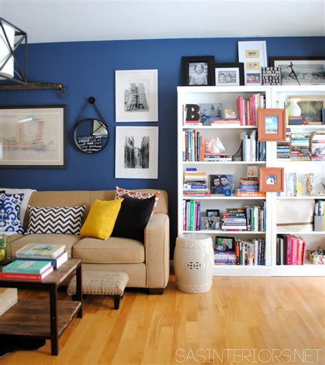 Colorful Bookcases A Newly Designed Home Office Family Room Jenna Burger