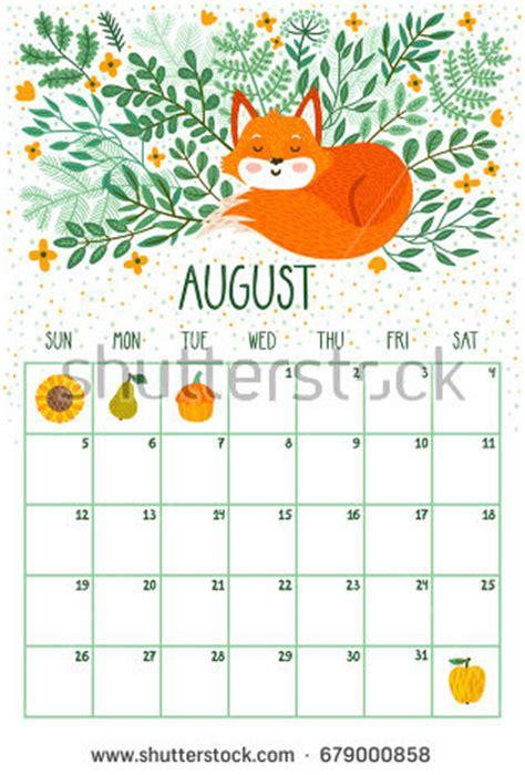 august 2018 calendar cute | printable calendar templates