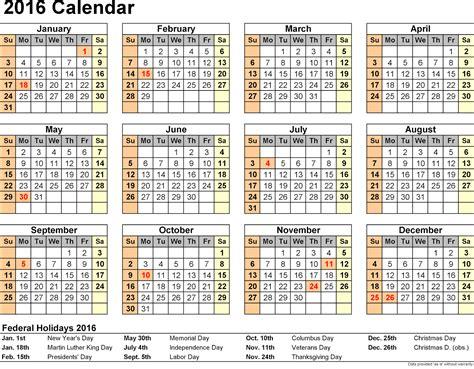 Calendar W Holidays 2015 2016 Calendar With Federal Bank Holidays
