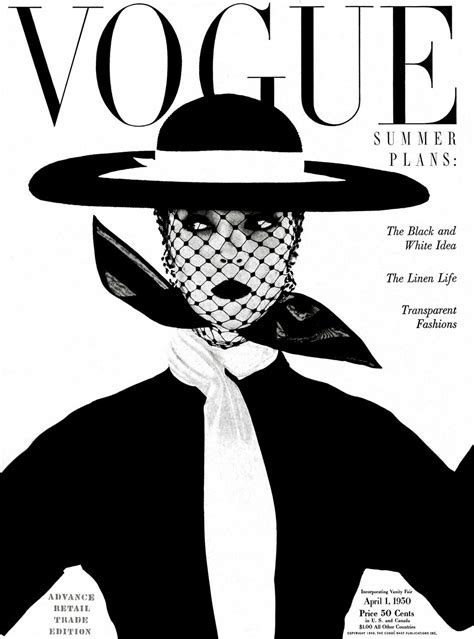 black and white cover irving penn vogue april 1 1950 black and white cover