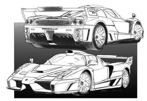 ferrari enzo sketch how to draw enzo ferrari