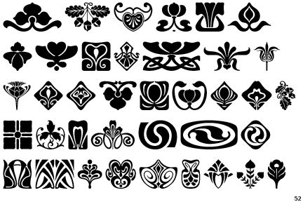 pattern ornament font identifont art nouveau ornaments