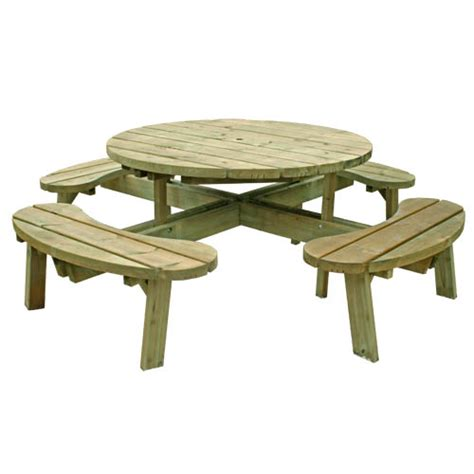 round bench seat round picnic table with seat backs 8 seater free
