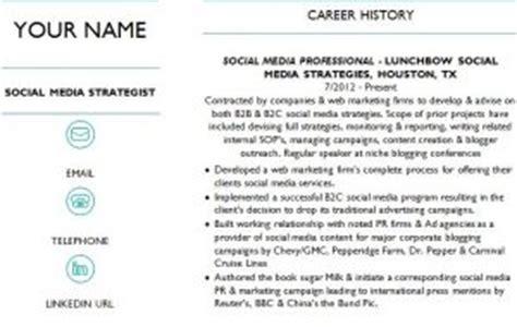 social media strategist resume 187 template