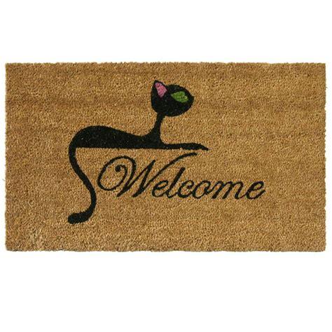 Cat Doormats by Rubber Cal Cat 18 In X 30 In Welcome Mat 10 106