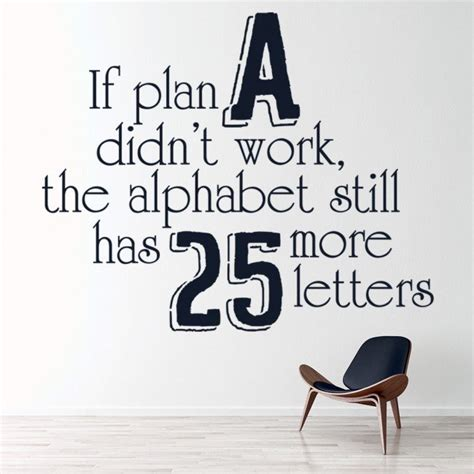 plan  didnt work inspirational quote wall sticker