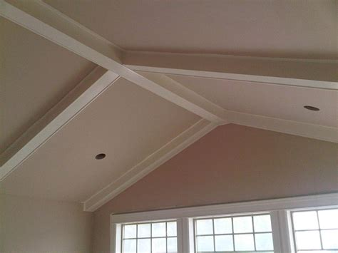 vaulted celing coffered vaulted tray and moulded ceilings