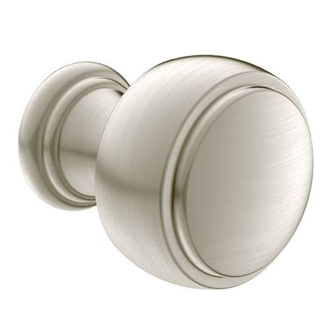 Brushed Nickel Knobs Weymouth Brushed Nickel Drawer Knob Yb8405bn Moen
