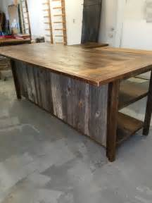 kitchen island rustic woodreclaimed wood shelvesbarn siding