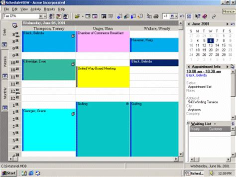 Free Appointment Calendar Software Scheduleview Appointment Book Demo