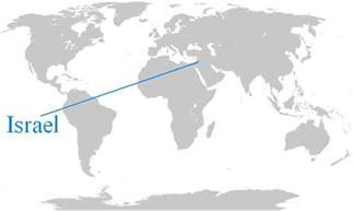 World Map Israel by Israel On World Map